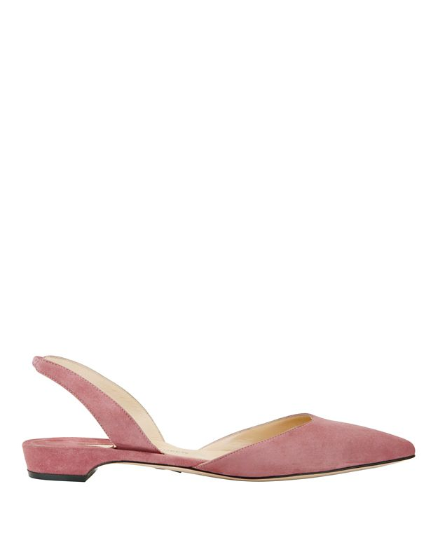 Paul Andrew Rhea Slingback Suede Pointy Toe Flats