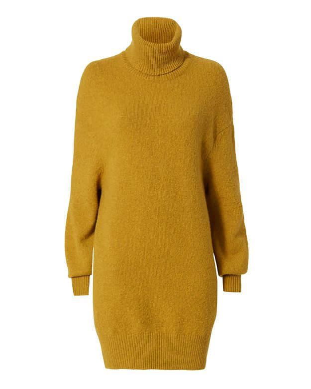 Adam Lippes Pocket Lined Turtleneck: Gold