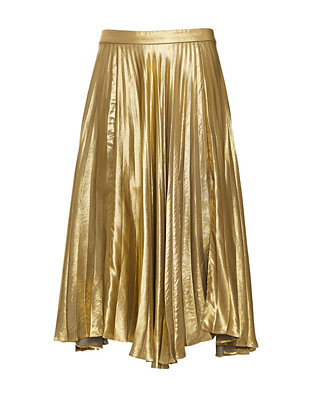 A.L.C. Gates Pleated Metallic Skirt