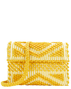 Antonello EXCLUSIVE Suni Foldover Cotton Clutch: Yellow