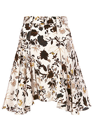 A.L.C. Brien Belted Print Skirt