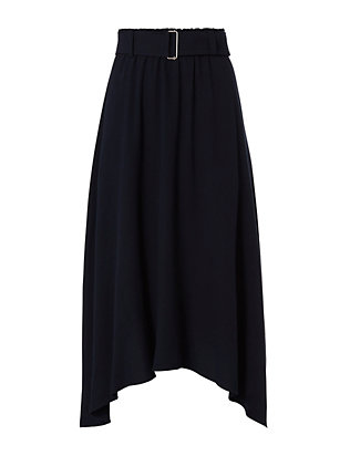 A.L.C. Charles Belted Skirt: Navy