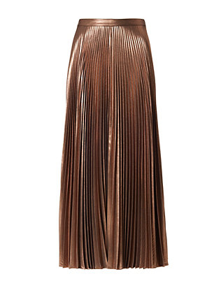 A.L.C. Metallic Pleat Skirt
