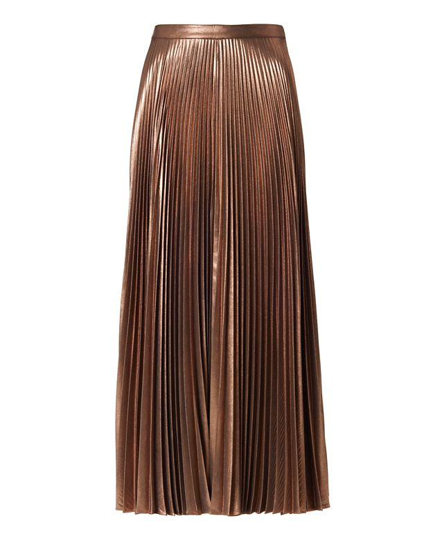 A.L.C. Bobby Metallic Pleat Skirt