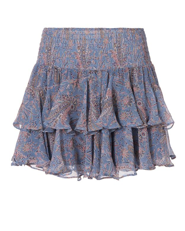 Twelfth Street by Cynthia Vincent EXCLUSIVE Ruffle Mini Skirt: Periwinkle