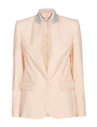 Stella McCartney Mist Stand Up Collar Blazer