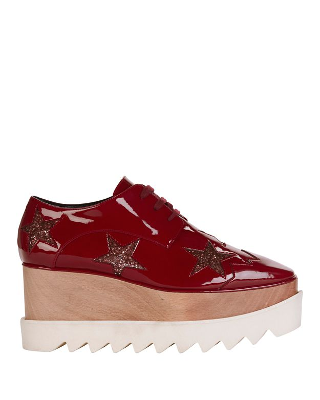 Stella McCartney Elyse Star Platform Lace-Up Oxford