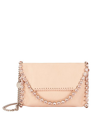 Stella McCartney Shaggy Crystal Embellished Mini Flap Crossbody