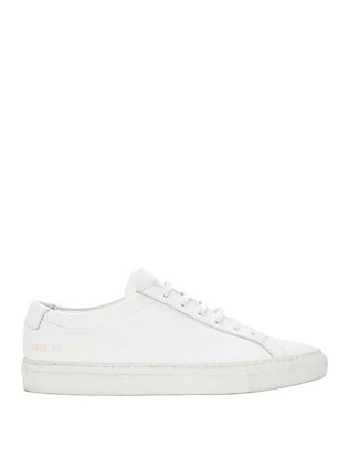 Common Projects Achilles Lace-Up Leather Sneakers: White