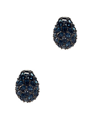 Crystal Pavé Round Earrings