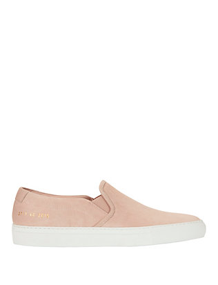 Common Projects Slip On Suede Sneakers: Pink