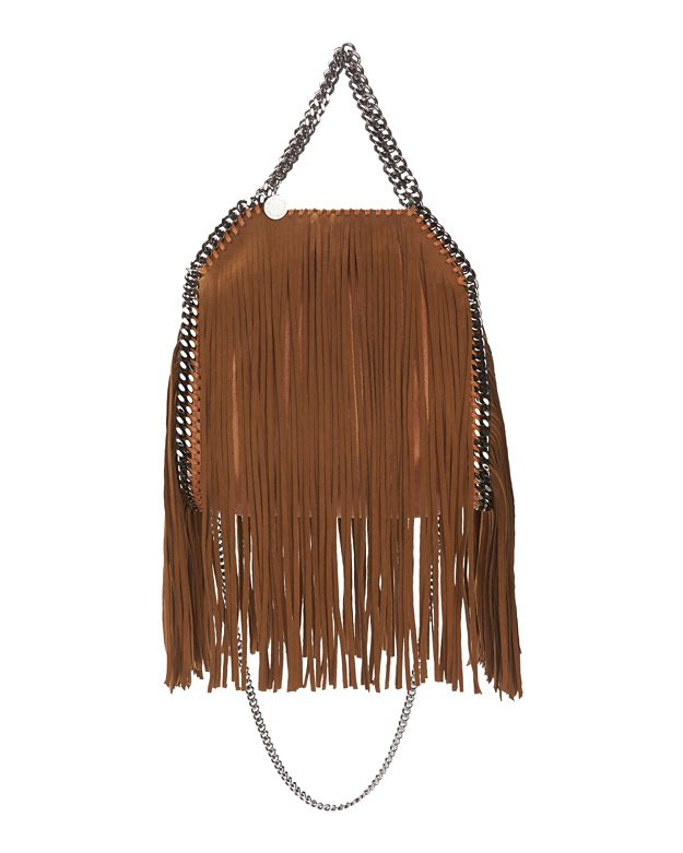 Stella McCartney Three Chain Fringe Mini Tote: Tan