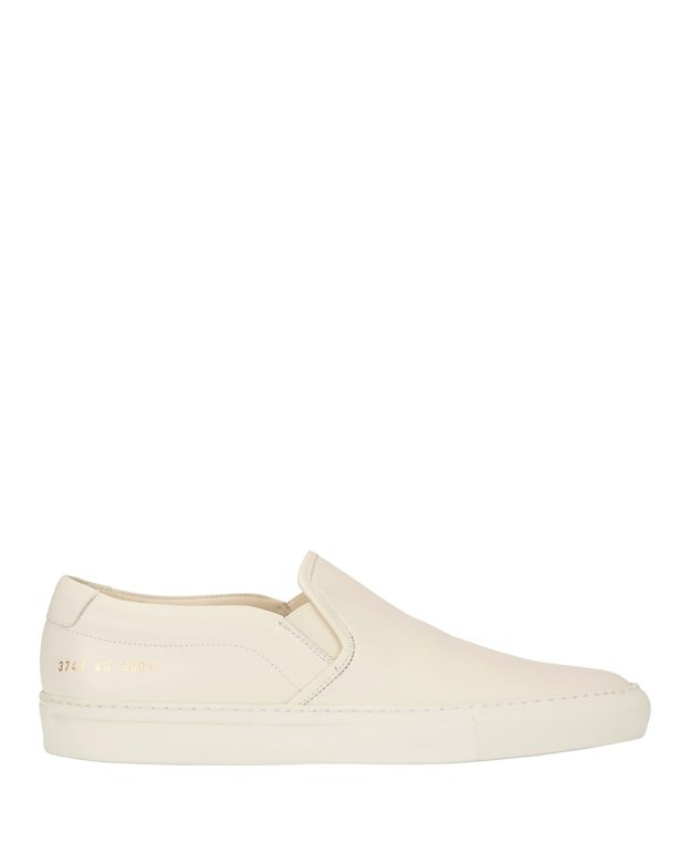 Common Projects Slip On Leather Sneakers: Ivory