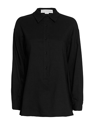 Stella McCartney Open Back Shirt: Black
