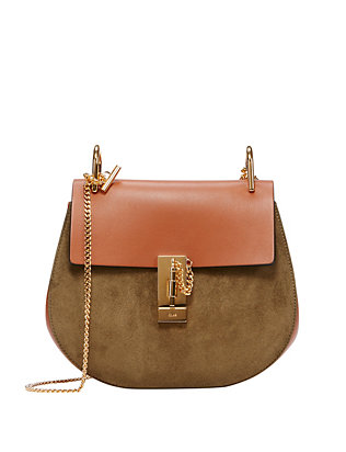 Chloé Drew Two Tone Saddle Bag