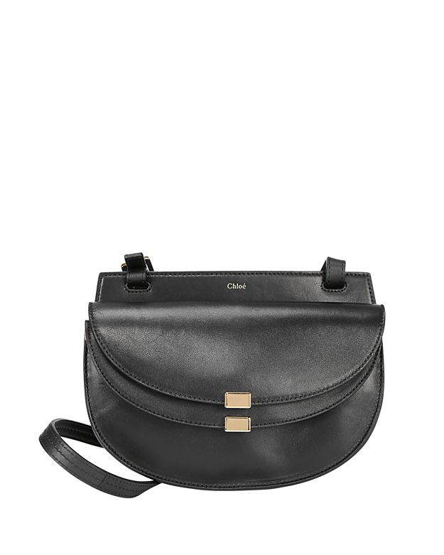 Chloe Georgia Mini Leather Crossbody: Black