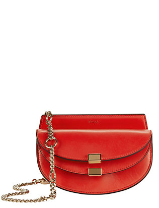 Chloé Georgia Nano Leather Crossbody: Red