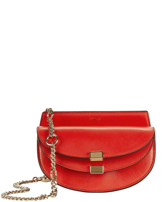 Chloe Georgia Nano Leather Crossbody: Red