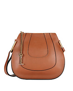 Chloe Hayley Small Leather Hobo: Tan
