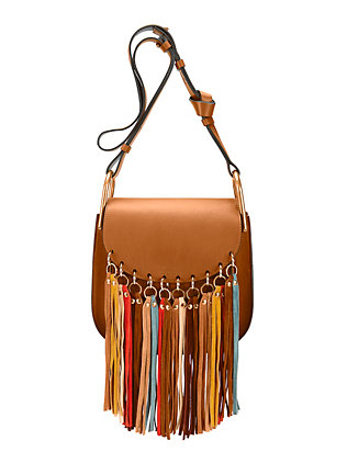 Chloé Hudson Multi Color Fringe Small Shoulder Bag