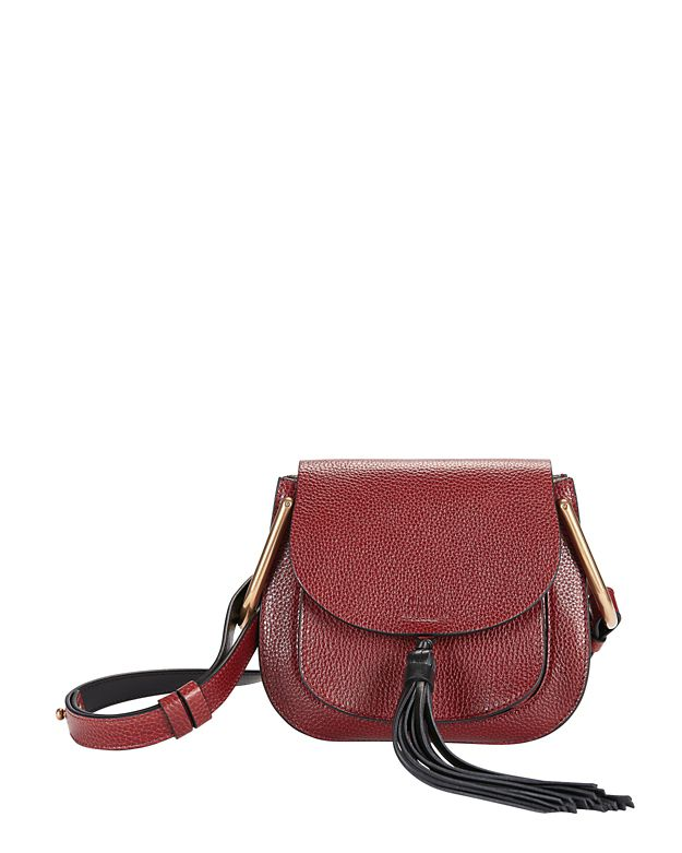 Chloe Hudson Mini Shoulder Bag: Burgundy