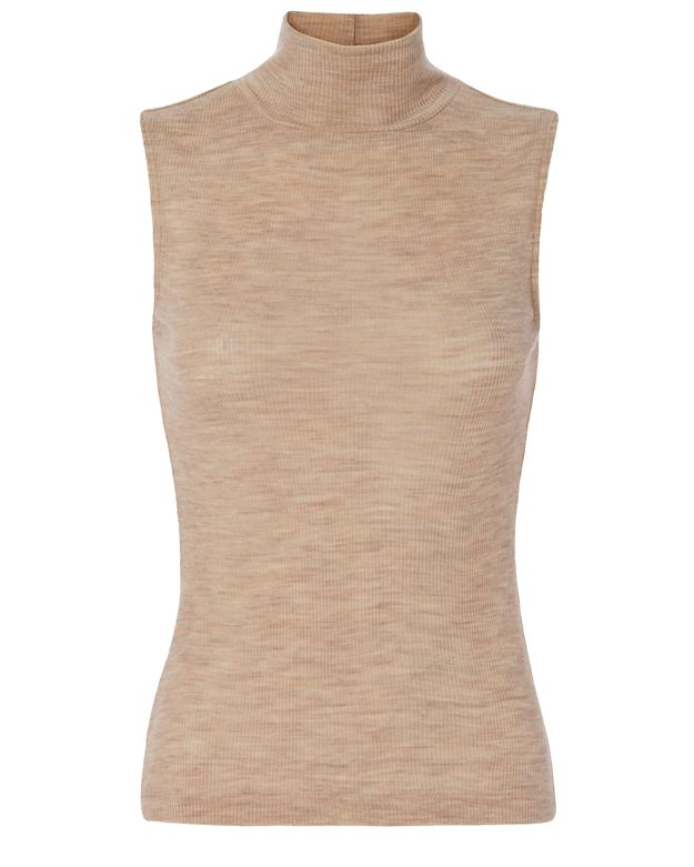 T by Alexander Wang Wooly Rib Turtleneck: Camel