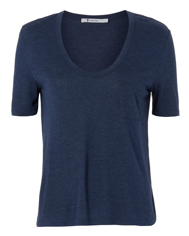 T by Alexander Wang Classic Crop Tee: Navy