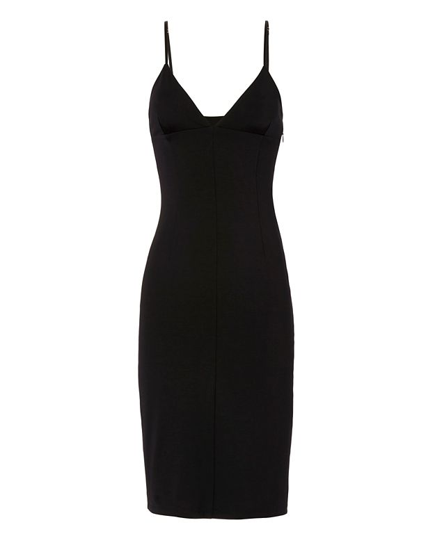 T by Alexander Wang Fitted Ponte Dress: Black