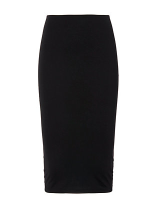 T by Alexander Wang Ponte Midi Skirt: Black