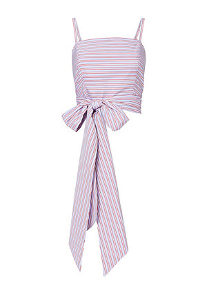 MDS Stripes Everything Wrap Stripe Top