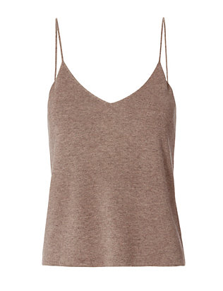 Cropped Cami: Taupe
