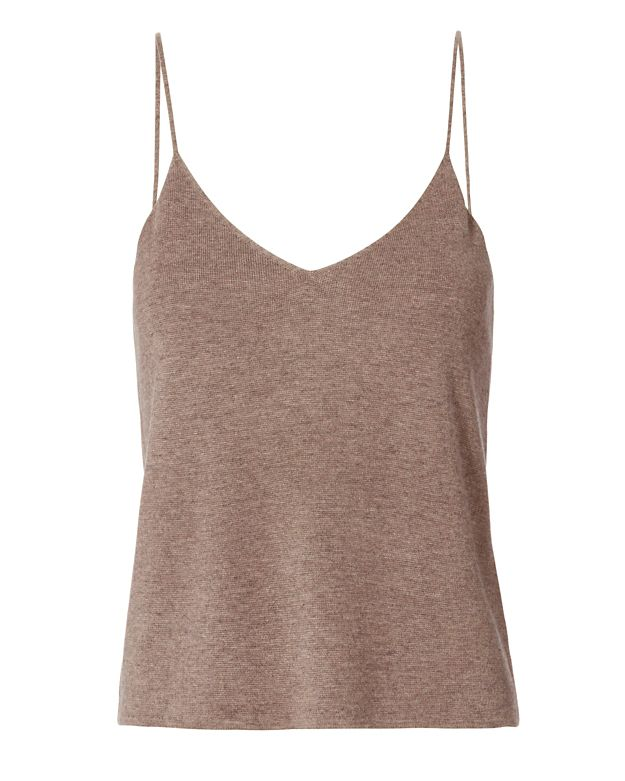 T by Alexander Wang Cropped Cami: Taupe
