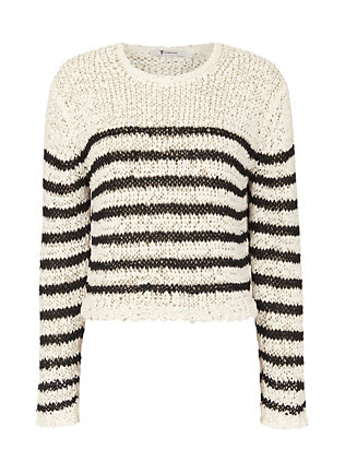 T by Alexander Wang Crop Tape Yarn Knit Pullover