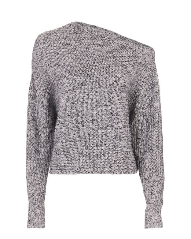 T by Alexander Wang Marled Asymmetric Chunky Pullover