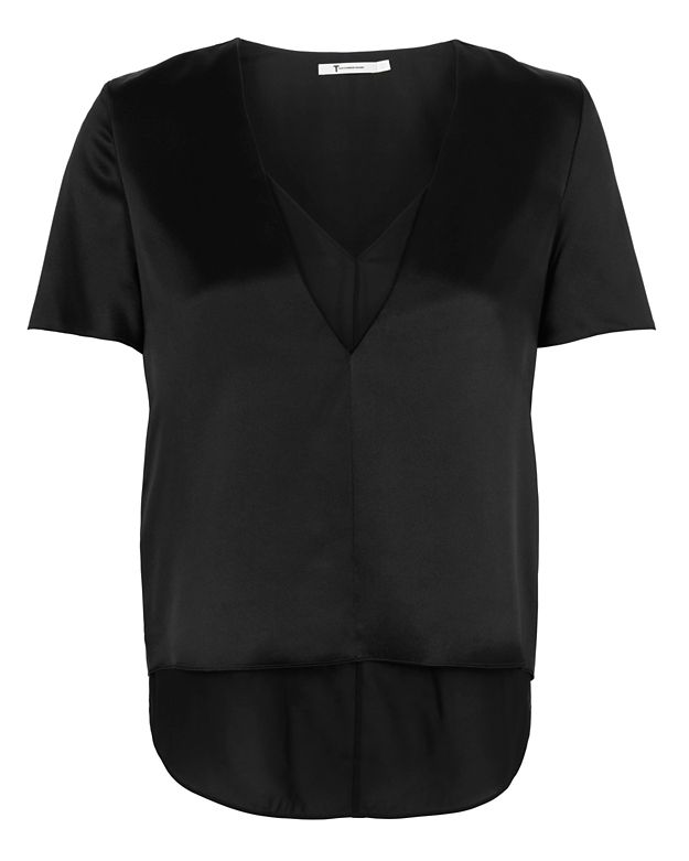 T by Alexander Wang Double Layer Silk Top