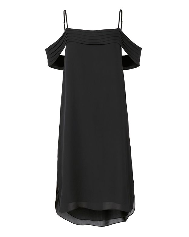 T by Alexander Wang Pleated Shoulder Dress