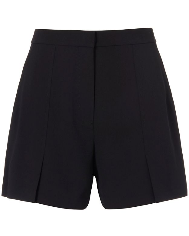 T by Alexander Wang Flutter Crepe Shorts: Black