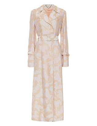 Stella McCartney Horse Print Trench Coat