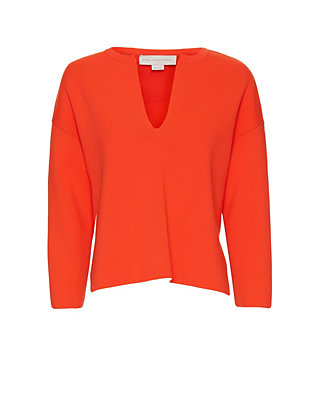 Stella McCartney Split Neck Knit: Orange