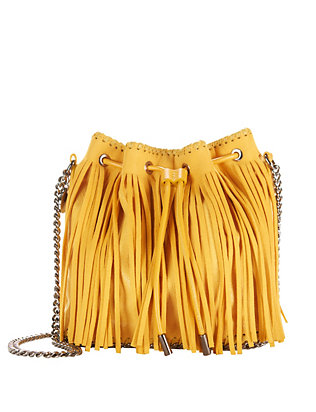 Stella McCartney Fringe Bucket Bag: Yellow