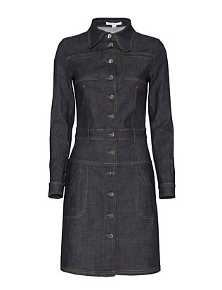Carven Collared Denim Dress
