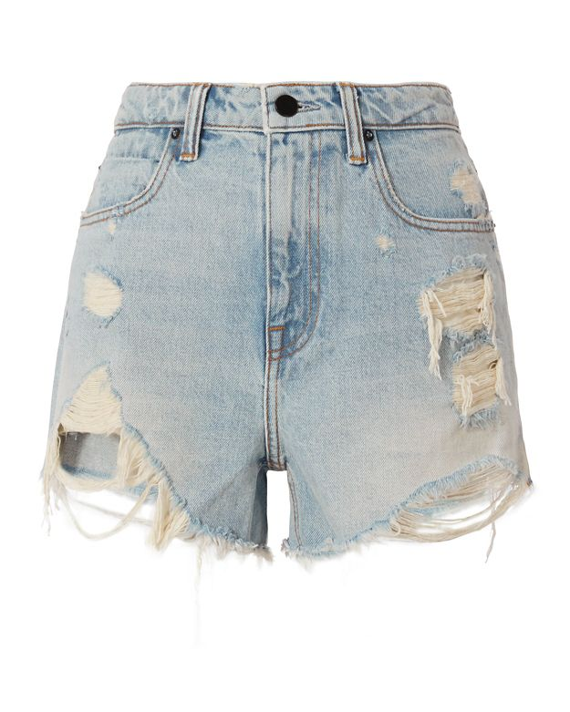Alexander Wang Bleach Bite Destroyed Cut Offs