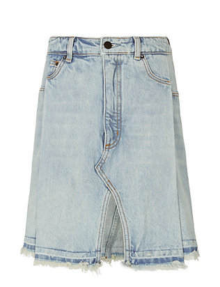 Alexander Wang Bleached Denim Pleated Skirt