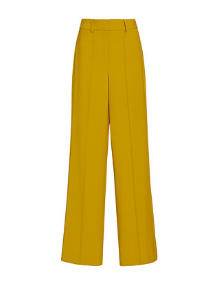 Adam Lippes Wide Leg High-Waisted Yellow Pants