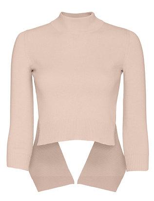 Alexander McQueen Open Back Ballet Sweater