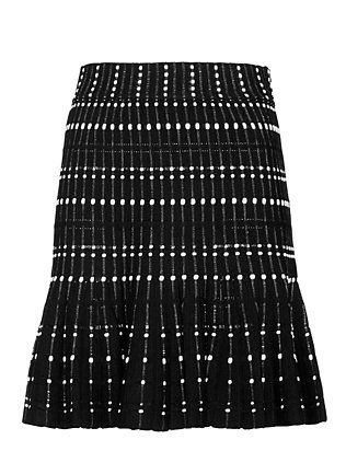 Alexander McQueen Knit Flare Mini Skirt