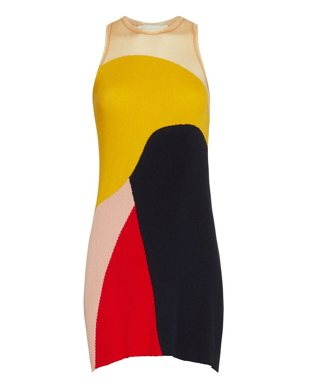 Stella McCartney Pleated Rib Multi Color Dress