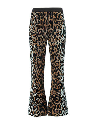 Cheetah Pattern Knit Pant