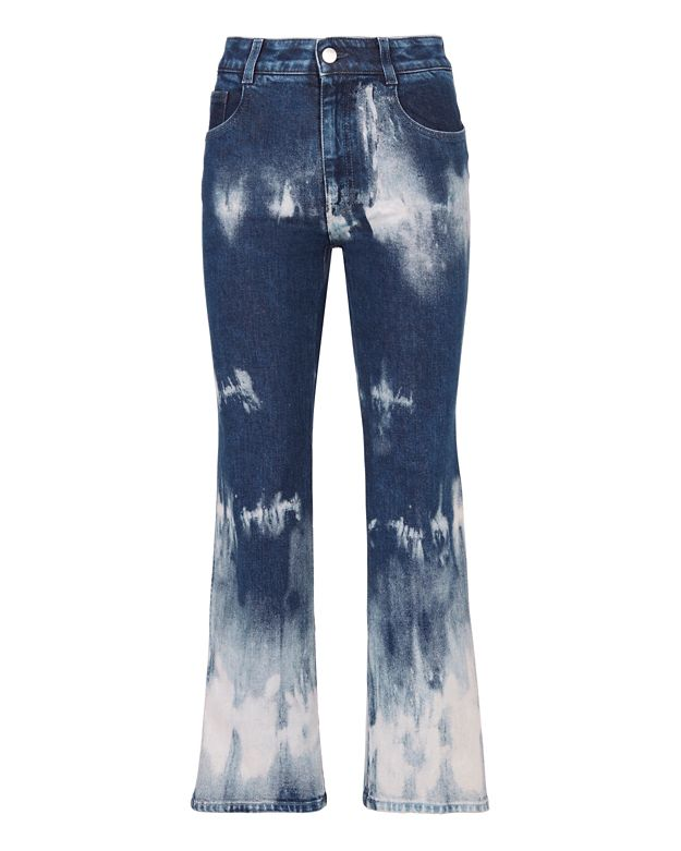 Stella McCartney Tie Dye Denim Crop