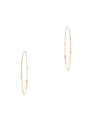 Large Flat Magic Hoop Earrings